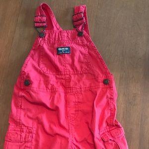 Red OshKosh short overalls